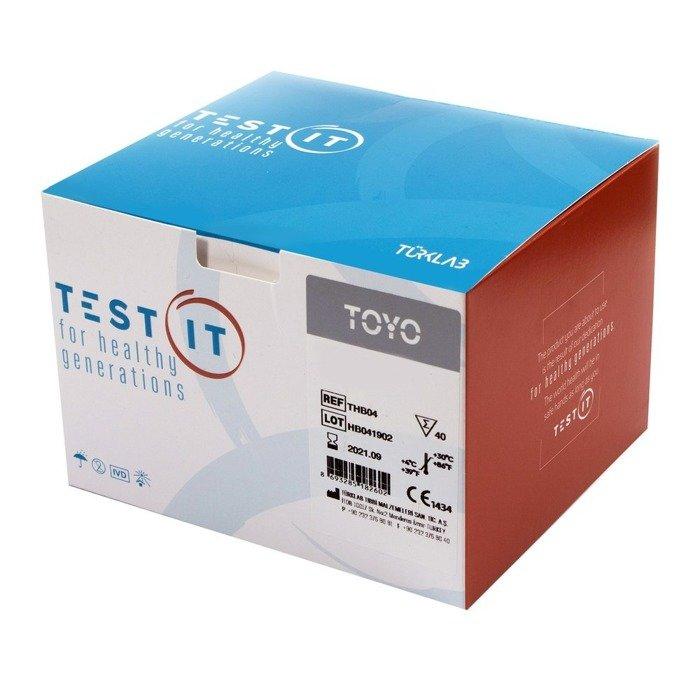 HBsAg Test (40 testów) do wykrywania antygenu powierzchniowego typu B (HBsAg). Badanie z krwi pełnej, surowicy, osocza.