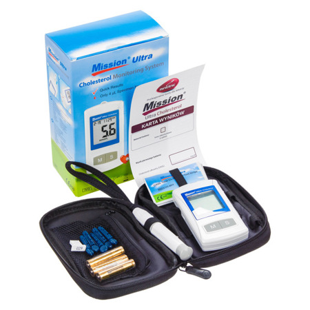 MISSION ULTRA CHOLESTEROL METER - Aparat do oznaczania cholesterolu
