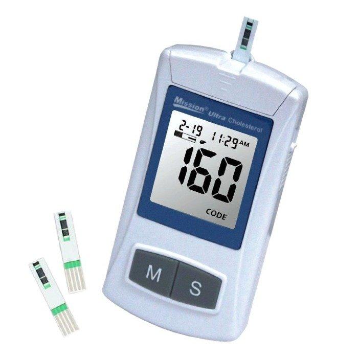 MISSION ULTRA CHOLESTEROL METER - Aparat do oznaczania cholesterolu całkowitego z 1 kropli krwi z palca