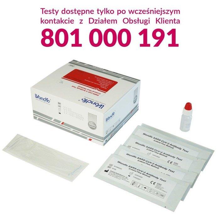 SARS-CoV-2 Antibody Test (20 testów - metoda przepływu bocznego) - szybki test na koronawirus