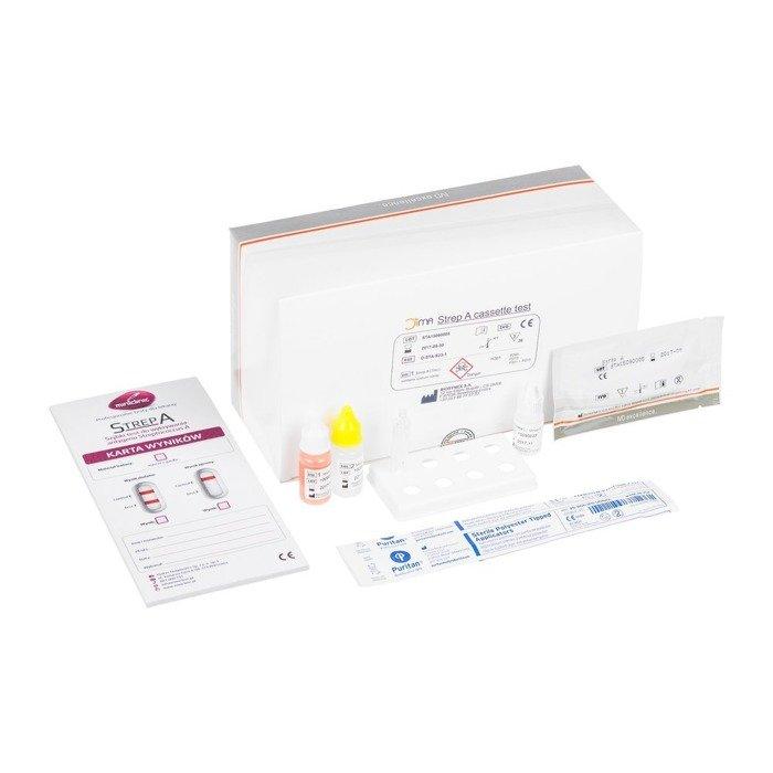 STREP A (20 testów) - szybki test do wykrywania antygenu Streptococcus z grupy A w wymazie z gardła