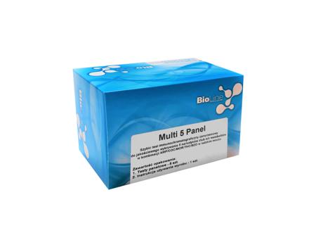 Zanurzeniowy test narkotykowy z moczu - 5 parametrów: AMP/COC/MOR/THC/BZO - BioLine Multi 5 Panel